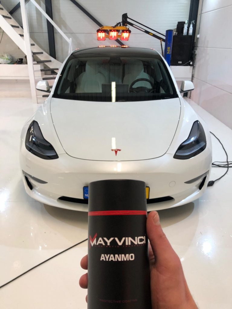 Tesla lakverzegeling glascoating